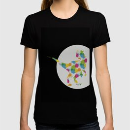 color spit T-shirt
