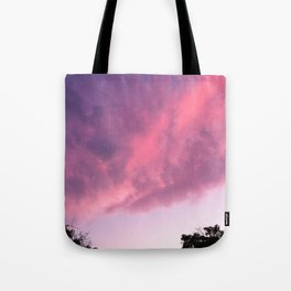 Color Bomb Sunset Tote Bag
