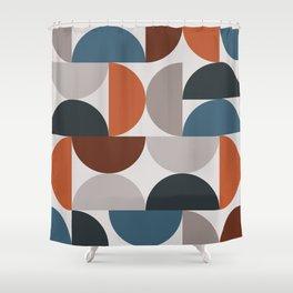 Mid Century Modern Geometric 25 Shower Curtain