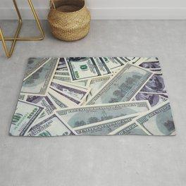 American money $100 banknotes Rug