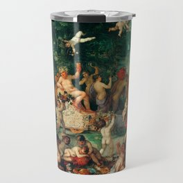 "Jan Brueghel The Elder ""Bacchanalia"" Travel Mug"