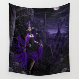 Dark Sorceress Wall Tapestry