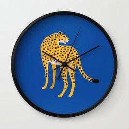 The Stare 2: Golden Cheetah Edition Wall Clock