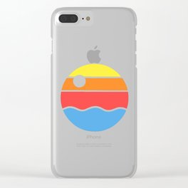 Simple sunset Clear iPhone Case