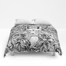 hidden fox Comforters