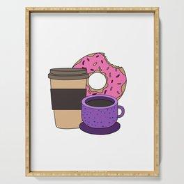 coffee donut Latte Macchiato Cappuccino Caffeine Serving Tray