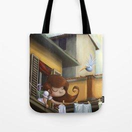 """hanging books"" Tote Bag"