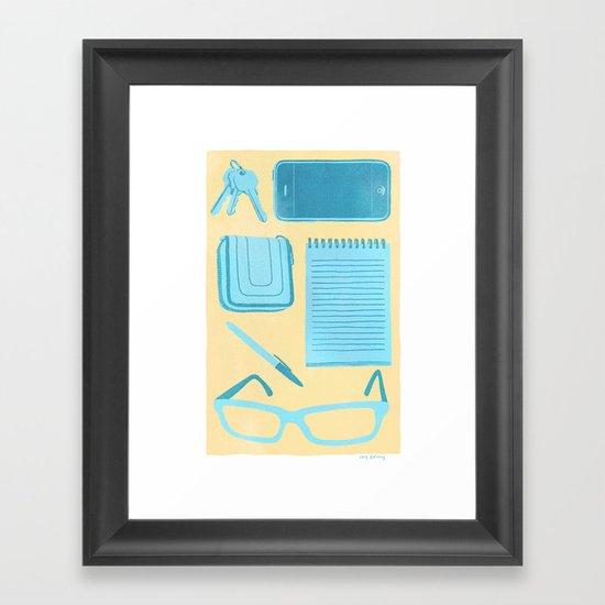 Friendly Reminder Framed Art Print