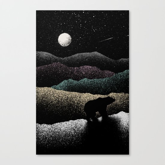 Wandering Bear Canvas Print