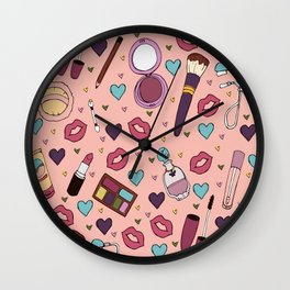 In My Makeup Bag Wall Clock