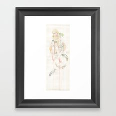 Genesis and the Little Mermaid Framed Art Print