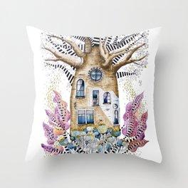 Teapot Baobab of my dreams Throw Pillow
