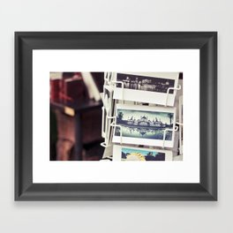 Postales Framed Art Print