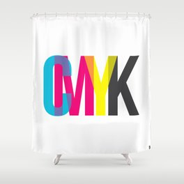 CMYK Shower Curtain