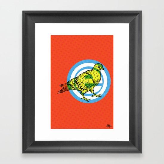 Mod Pigeon Framed Art Print