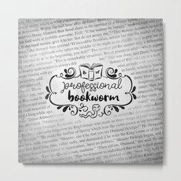 Professional Bookworm Paper Metal Print