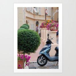 Streets of Monte Carlo, Monaco Art Print