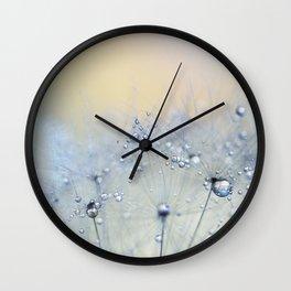 ice blue dandelion Wall Clock