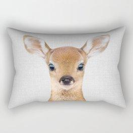 Baby Deer - Colorful Rectangular Pillow