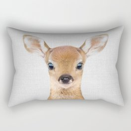 Baby Deer - Colorful Rectangular Pillow