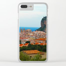 Cityscape of Cefalu Italy Clear iPhone Case