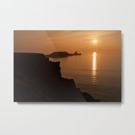 worms head sunset gower Metal Print