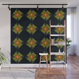 The Fireflower Swirl (Pattern) Wall Mural