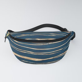 Messy Stripes on Prussian Blue Fanny Pack