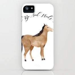 Head Up And Heels Down Gifts Horse Lovers Racing iPhone Case