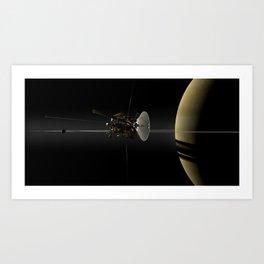 Cassini–Huygens Space Probe Art Print