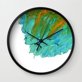 Lapeda Textile Art - 3 Wall Clock