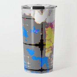 glitch abstract Travel Mug