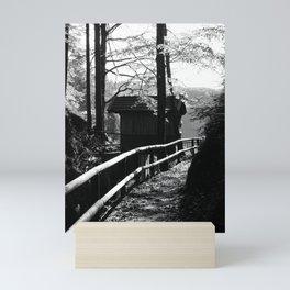 cottage in the wood Mini Art Print