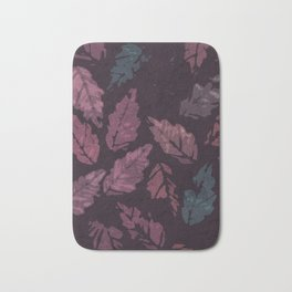 Abstract leaf painting II Bath Mat