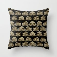 Tan & Black Daisies Throw Pillow