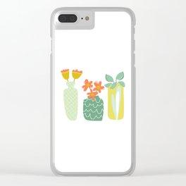 Friendliest Flowers Clear iPhone Case