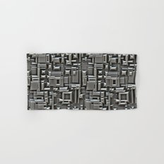 Brushed Metal 3D Pattern Hand & Bath Towel
