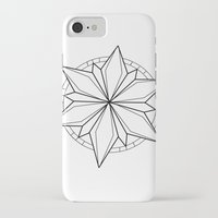 compass iPhone & iPod Cases featuring Compass by Cecilie
