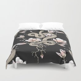 Magnolia and Serpent Duvet Cover