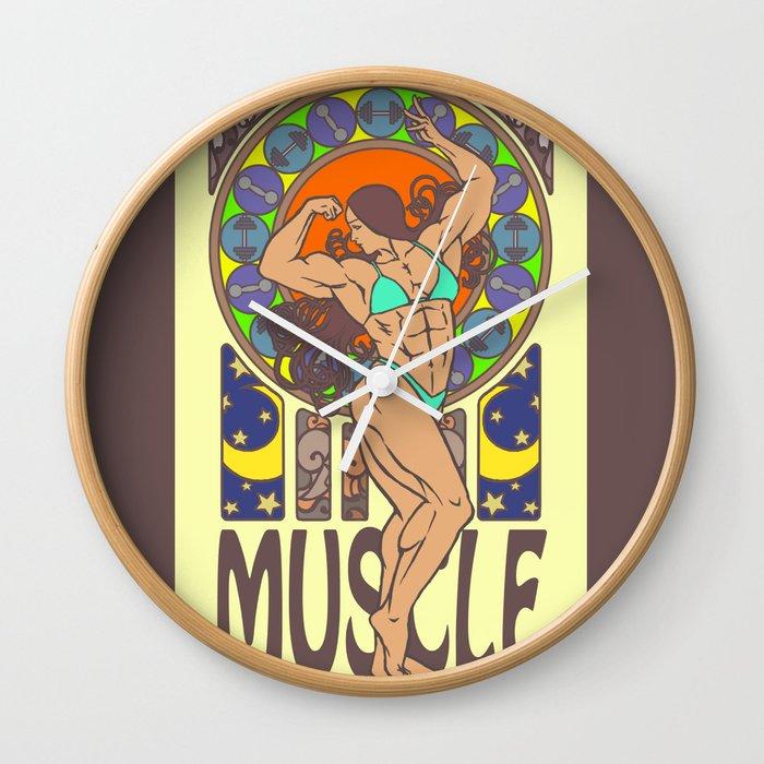 Beauty of Muscles No.1 Wall Clock