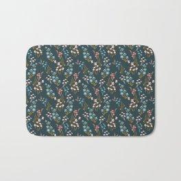 sweet blue floral Bath Mat