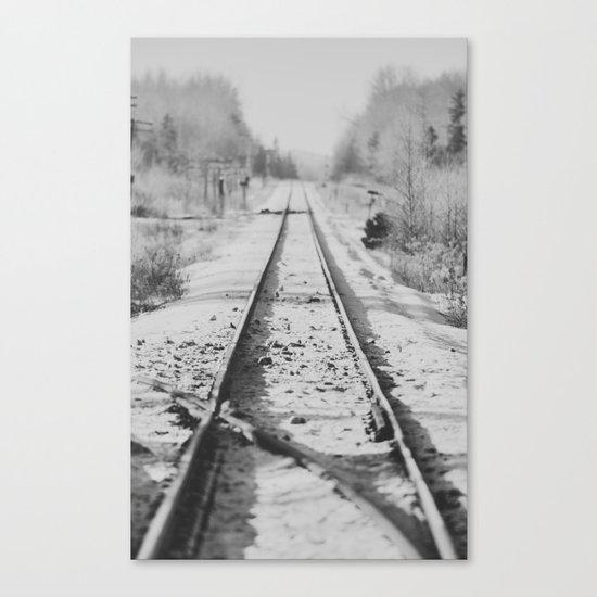 Tracks in Snow Canvas Print