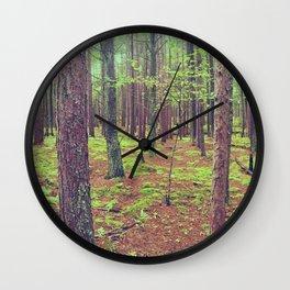 Songbird Trail Pine Grove Wall Clock