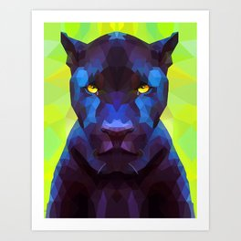 Acid Panther Art Print