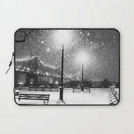 New York City Night Snow Laptop Sleeve