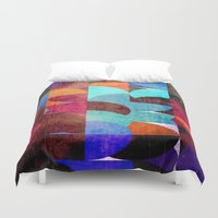grafitti Duvet Covers featuring Retro colorful by LoRo  Art & Pictures