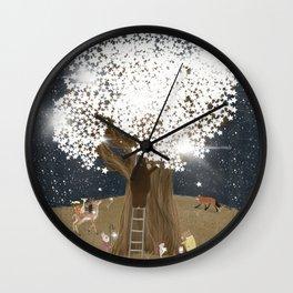 the starlight tree Wall Clock