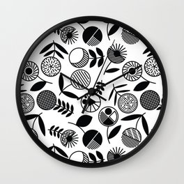 Geometric Florals Wall Clock