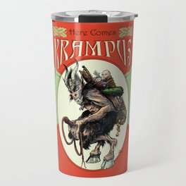 """Here Comes Krampus"" Travel Mug"