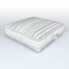 Watercolor Stripes Hues of Grey by Friztin Outdoor Floor Cushion